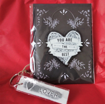 'You are the Best' Card and Lover keyring!